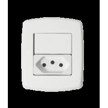 Interruptor Simples + Tomada 10A - Sistema X Veneza