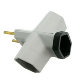Plug adaptador 2P Multiplicador