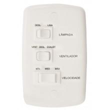 Conjunto Controle Ventilador 3 Teclas 220V 6A