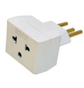 Plug adaptador Fêmea 2P+T 10A para Macho 2P+T 20A - VOLTIM