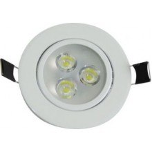 Spot LED 3W Branco Frio 100V-240V -  Embutir