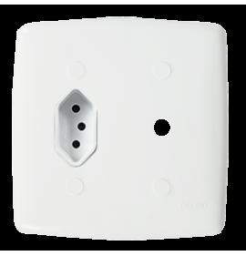Conjunto 1 Tomada 10A + Conector para Antena 4x4 - Mônaco